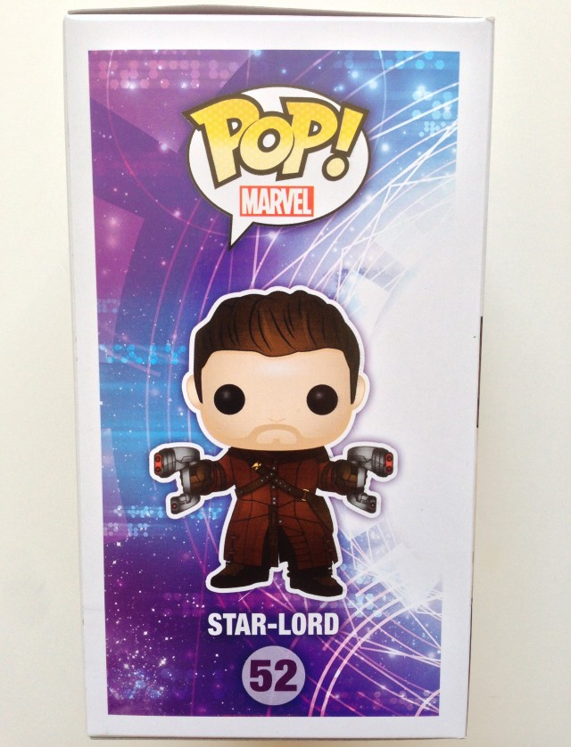 Funko POP! Marvel #52 Star-Lord Unmasked Box Side