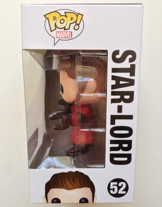 Marvel Funko POP Vinyls Star-Lord #52 Box Side