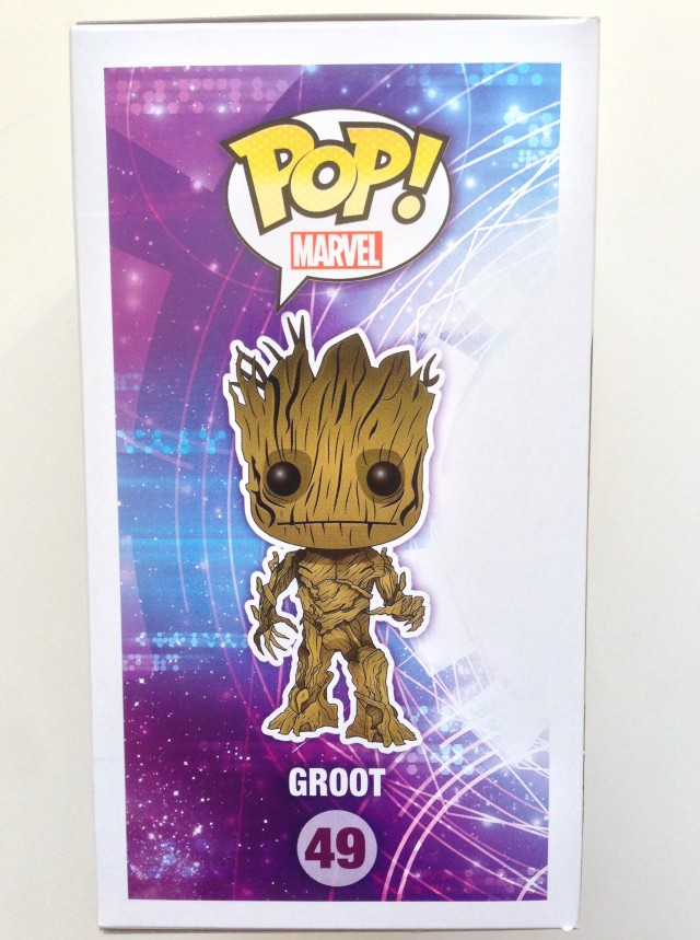 Funko POP Vinyls Groot Box Side