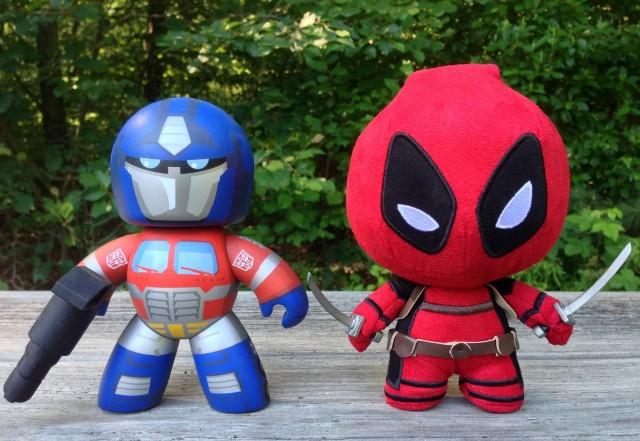 Deadpool Fabrikation vs. Optimus Prime Mighty Muggs Size Comparison