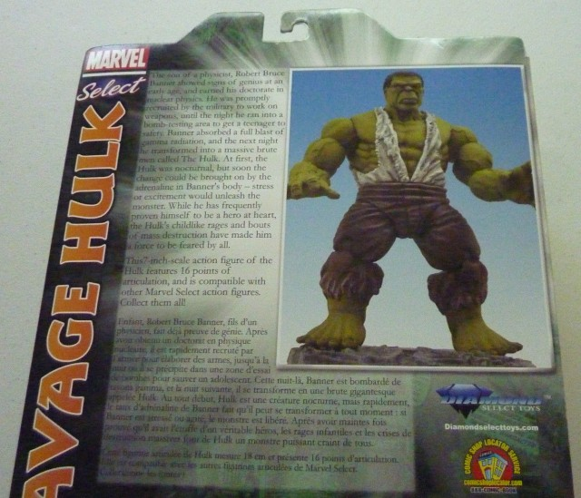 Disney Store Exclusive Marvel Select Savage Hulk Action Figure