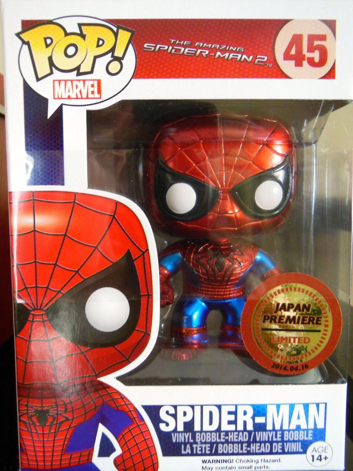 Funko Japan Premiere Metallic Spider Man Pop Vinyl