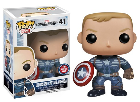 Funko Unmasked Captain America POP Vinyl Figure Exclusive Toy Matrix