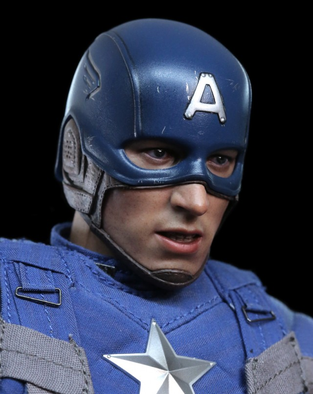 Golden Age Captain America Hot Toys Figure Head Sculpt