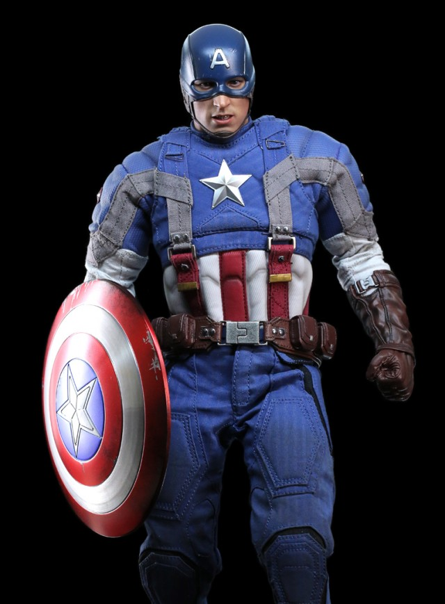 Hot Toys Captain America The Winter Soldier Movie Promo Captain America Golden Age Version Released
