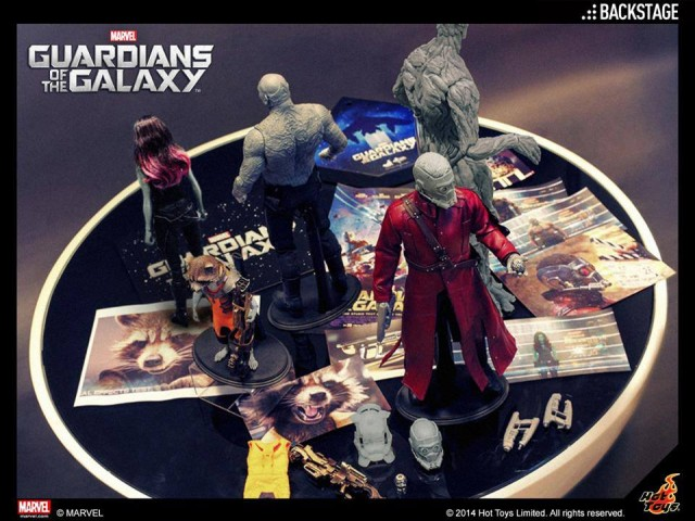 Hot Toys Guardians of the Galaxy Figures Photos Rocket Raccoon Groot Gamora Star-Lord Drax