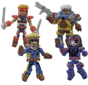 Marvel Minimates Classic X-Force Box Set Figures Cannonball Cable Domino Shatterstar
