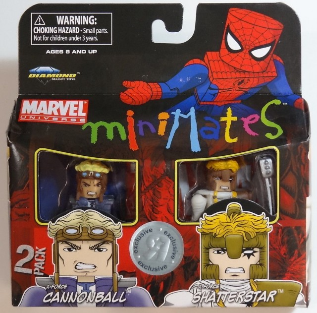 Marvel Minimates Shatterstar and Cannonball Two-Pack