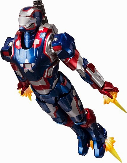 S.H. Figuarts Iron Patriot Iron Man 3 Action Figure Flying