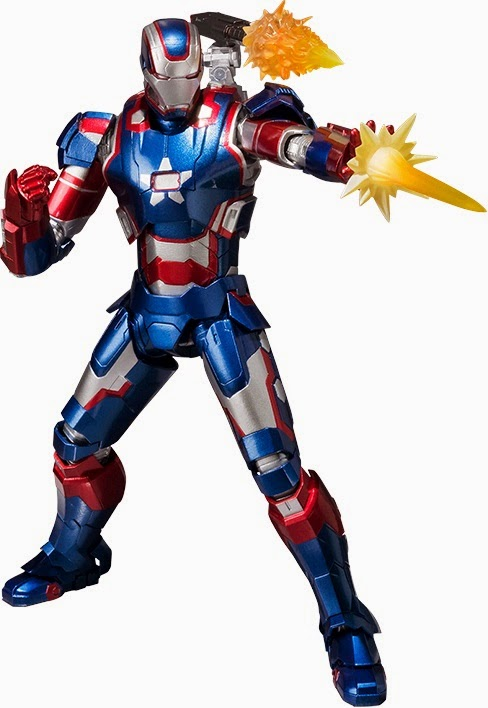 SH Figuarts Iron Patriot Figure with Exclusive Shoulder Cannon Effects Piece