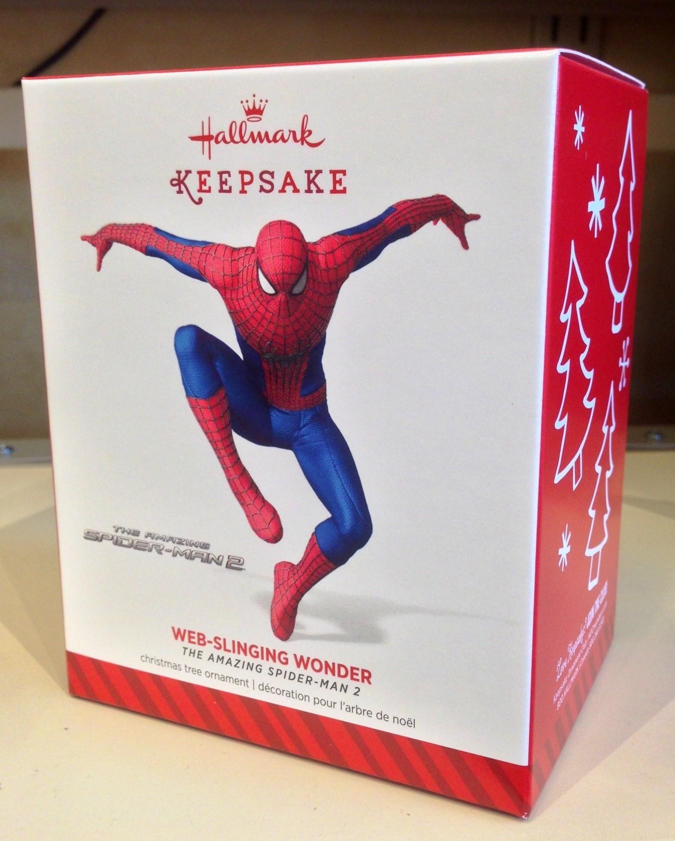 2014 Hallmark Ornaments Spider-Man & Captain America ...