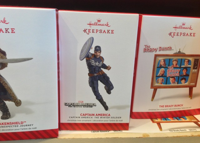 Hallmark 2014 Captain America Ornament on Shelf