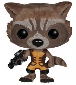 Flocked Rocket Raccoon Funko POP Vinyl San Diego Comic Con 2014 Exclusive Figure