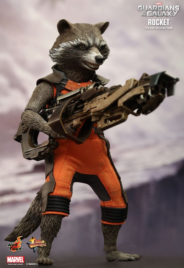 Guardians of the Galaxy Rocket Raccon Hot Toys Sixth Scale Figure Movie Masterpiece Series