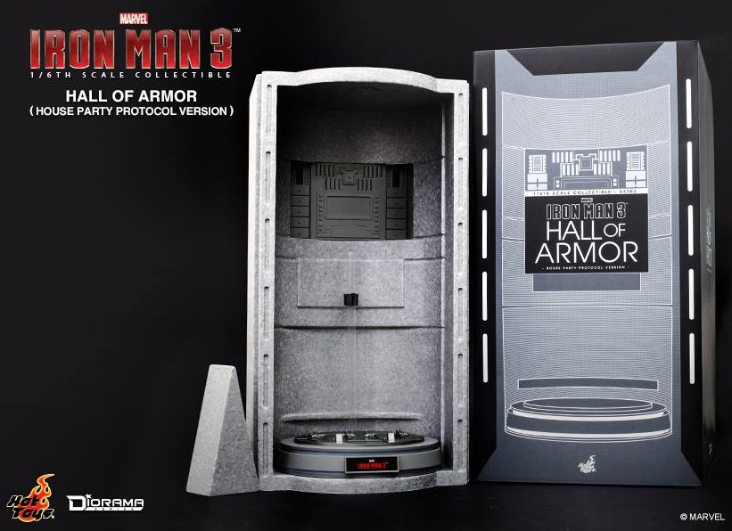 Toys Box 1//6 1 PC LED CLEAR HALL OF ARMOR FOR Iron Man Mark III Construction Ver