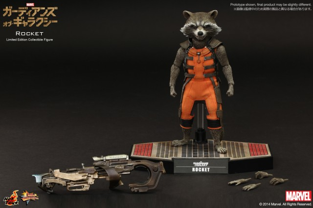 Hot Toys Rocket Raccoon Figure Accessories MMS 252