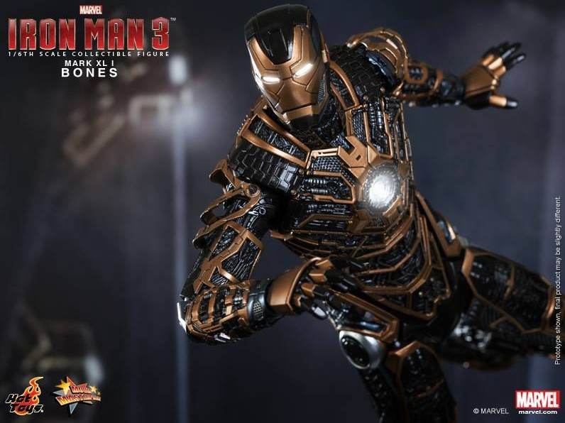 Hot Toys Bones Iron Man Mark XLI Revealed & Photos ...