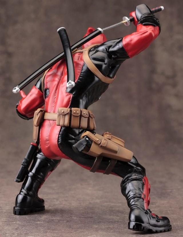 Marvel Kotobukiya ARTFX Deadpool Statue Back