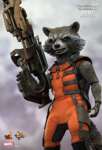 Rocket Raccoon Hot Toys Sixth Scale Figure Holding Gun