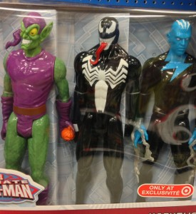 "Marvel Titan Hero Venom Electro Green Goblin 12"" Figures Close-Up"
