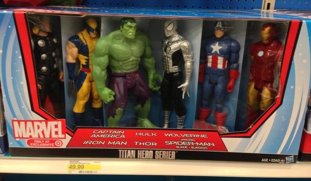 Marvel Heroes Titan Hero Series Figure Six-Pack Target Exclusive 2014