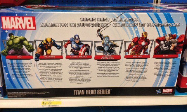 Target Exclusive Titan Hero Figure Collection Box Back