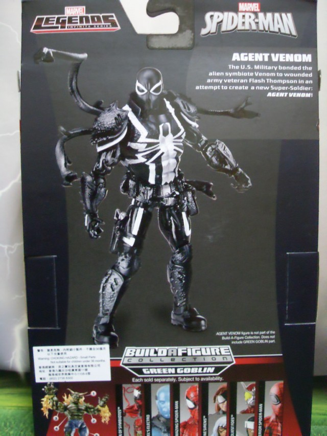Marvel Legends Agent Venom Packaging Back