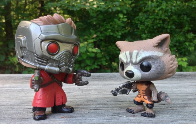 Rocket Raccoon vs. Star-Lord Funko POP! Vinyls Scale Photo