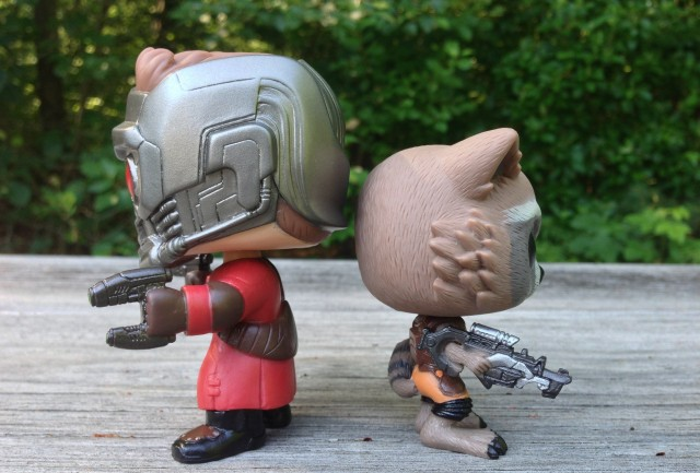 Scale Photo Funko Star-Lord and Rocket Raccoon Vinyl Toys