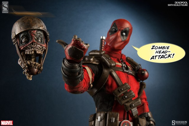 Sideshow deadpool sixth scale figure up for order for Headpool