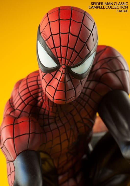 Classic Spider-Man Sideshow Statue Close-Up Head