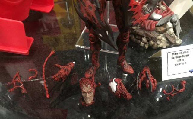 Marvel Select Carnage Heads and Accessories