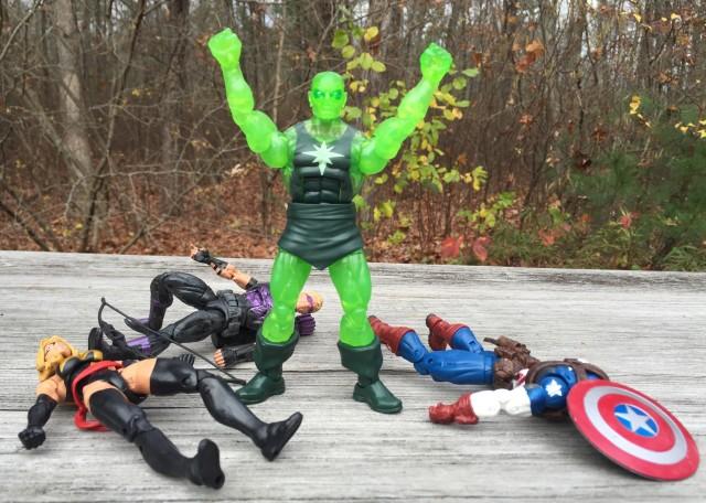 Marvel Legends Target Three-Pack Figures Radioactive Man Stands Supreme