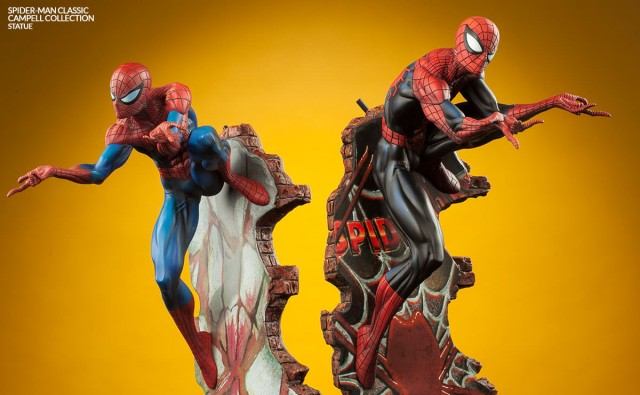 Sideshow J. Scott Campbell Spider-Man Statues Comparison