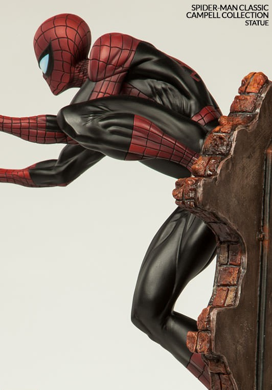 Sideshow Spider-Man Red and Black Costume Statue 2015