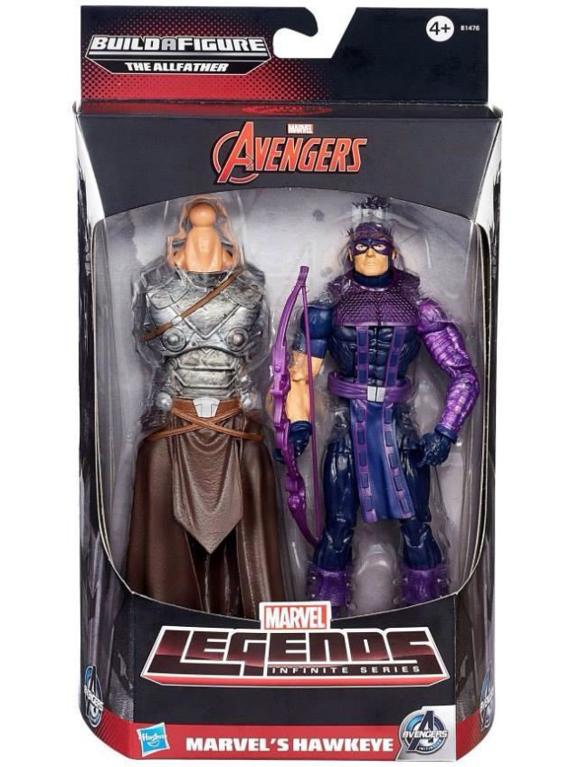 2015 Marvel Legends Hawkeye Avengers Figure with Odin Build-A-Figure Torso