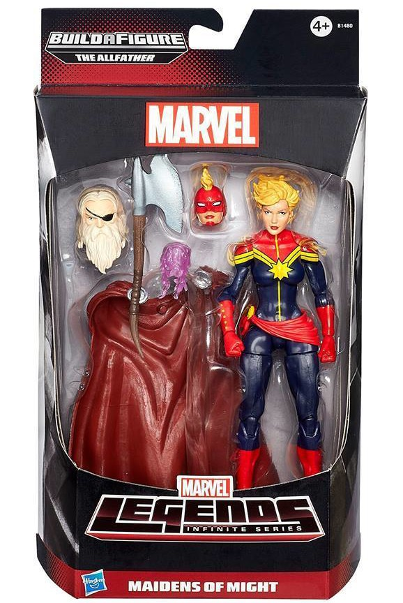 Avengers Marvel Legends Captain Marvel Carol Dangers Figure Maidens of Might