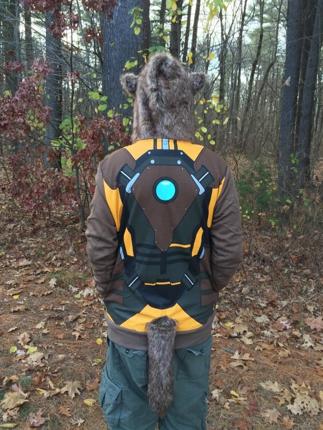 Back of I Am Rocket Raccoon Costume Hoodie