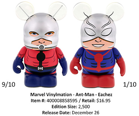 Disney Vinylmation Ant-Man Figures Eachez Variants Hank Pym Scott Lang