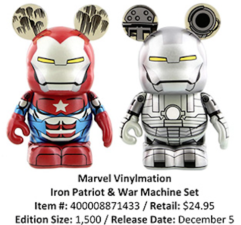 Disney Vinylmation Iron Patriot and War Machine Two-Pack LE 1500