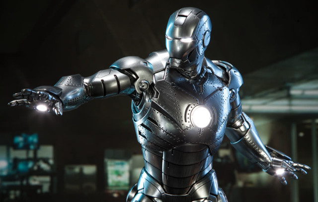 Light-Up Features of Iron Man MK II Sideshow Collectibles Statue