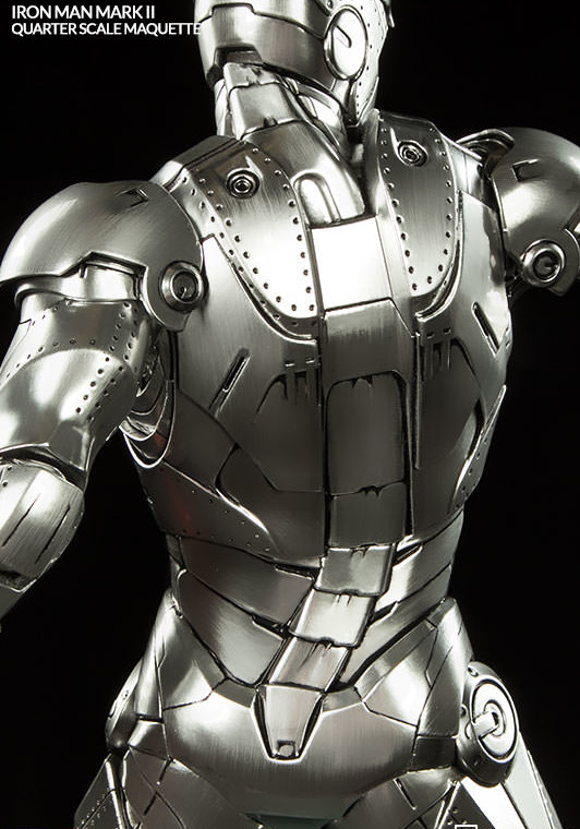 Mark II Iron Man Sideshow Collectibles Maquette Statue Back