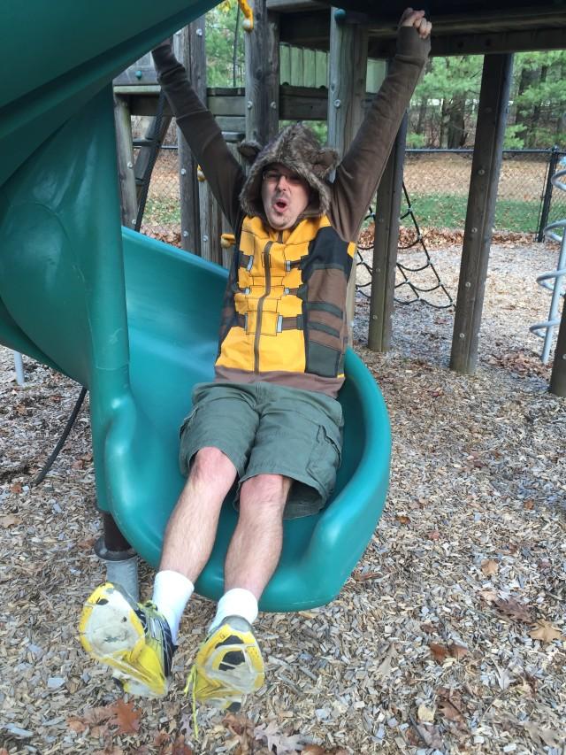 Rocket Raccoon Costume Hoodie on Slide