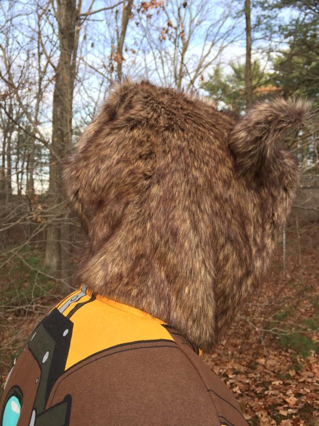 Rocket Raccoon Hoodie Hood Close-Up