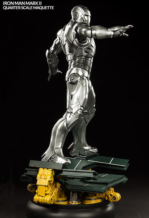 Side of Iron Man Mark II Quarter-Scale Maquette Statue