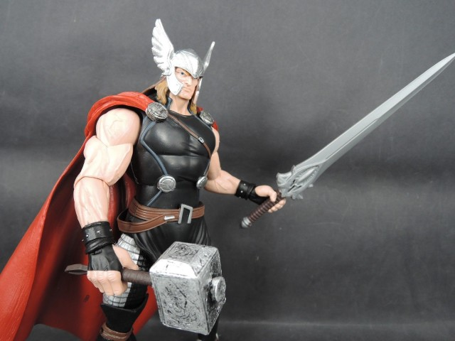 avengers marvel legends thor action figure with sword and mjolnir