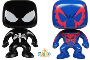 Funko POP Vinyls Black Suit Spider-Man and Spider-Man 2099