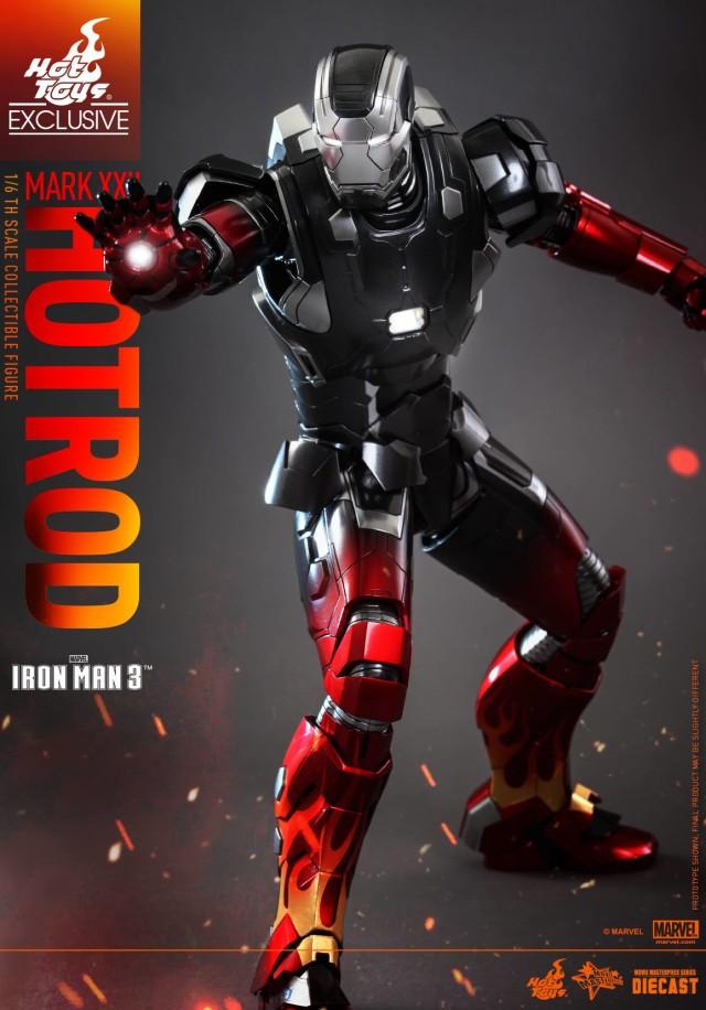 Hot Rod Iron Man Die-Cast Hot Toys Movie Masterpiece Series Figure