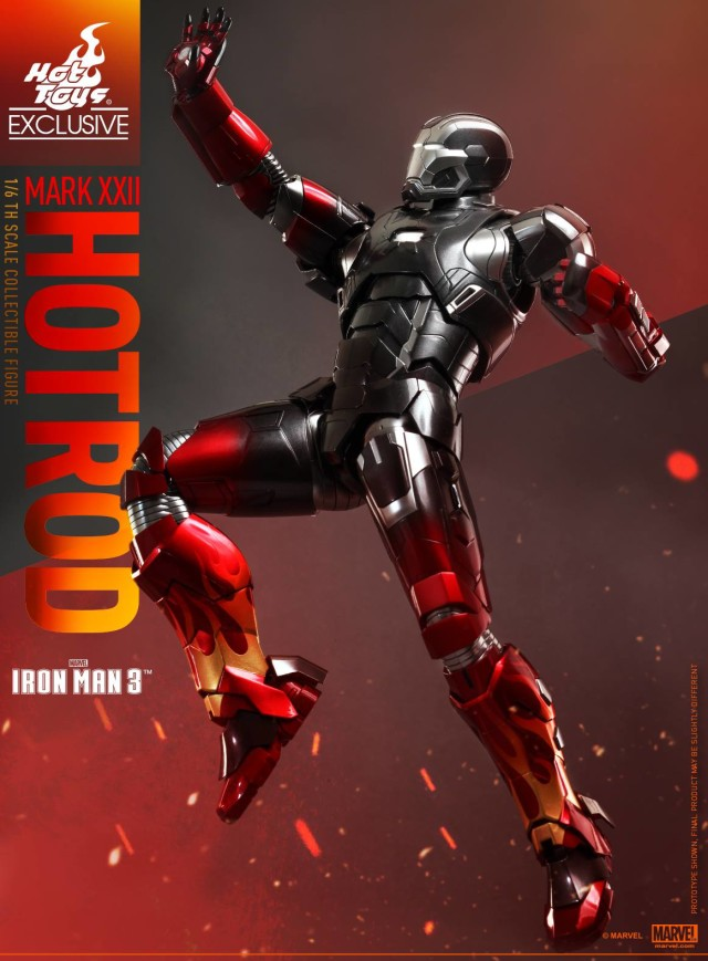 Hot Toys Exclusive Hot Rod Iron Man Movie Masterpiece Series Diecast Figure