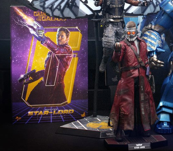 Hot Toys Guardians of the Galaxy Star-Lord Figure and Box